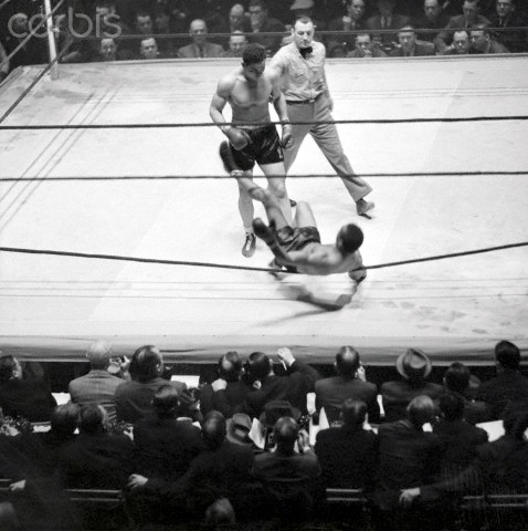 Joe Louis Knocking Out John Henry Lewis
