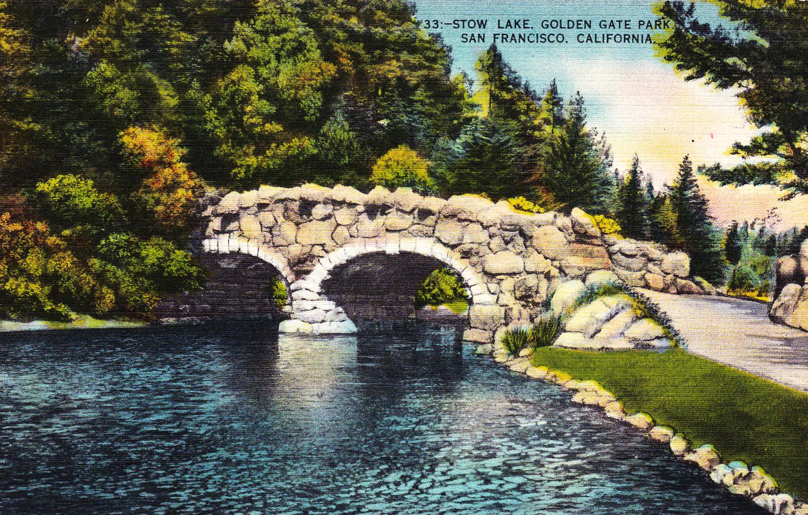 Stow Lake Postcard
