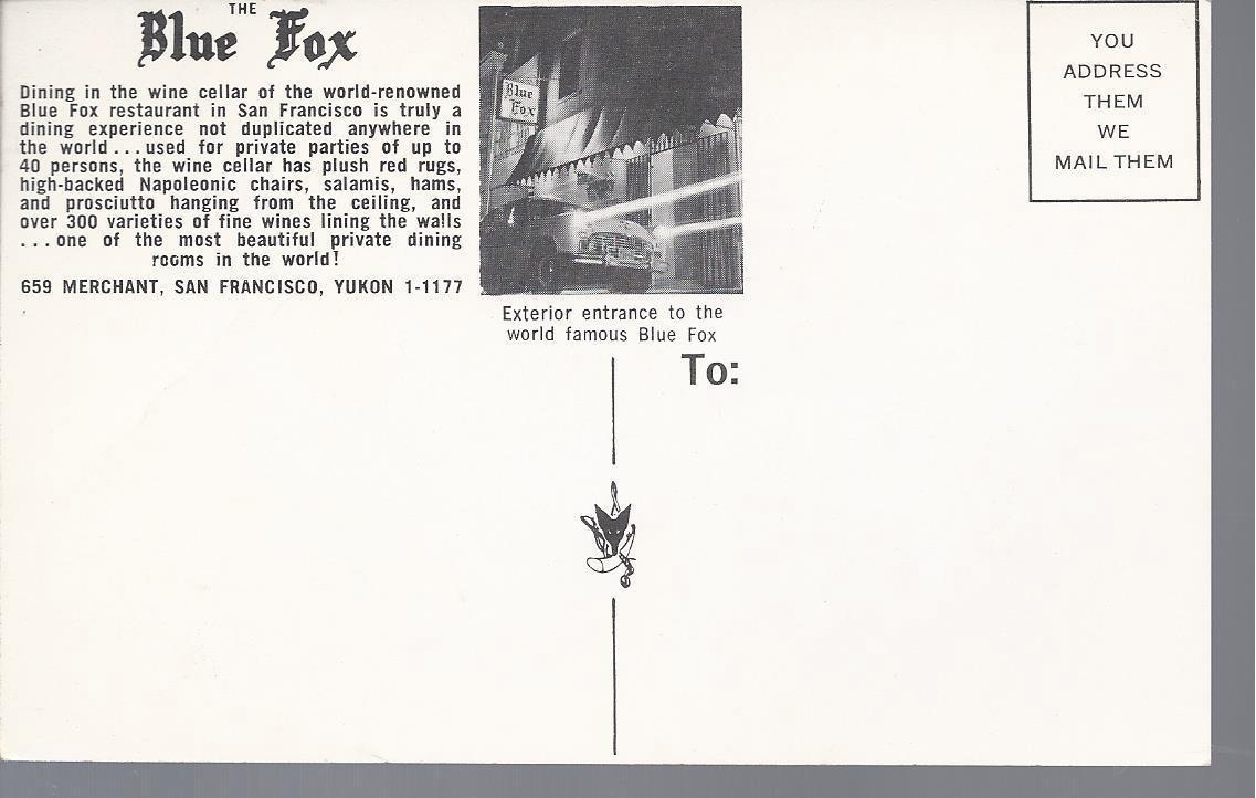 BlueFoxBackofPostcard