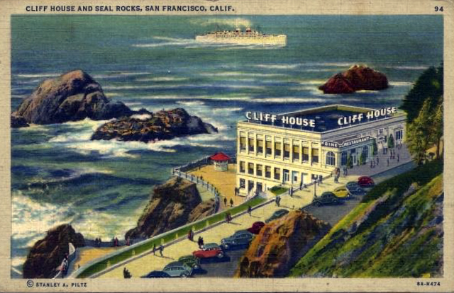 CliffHouse1939PostCard