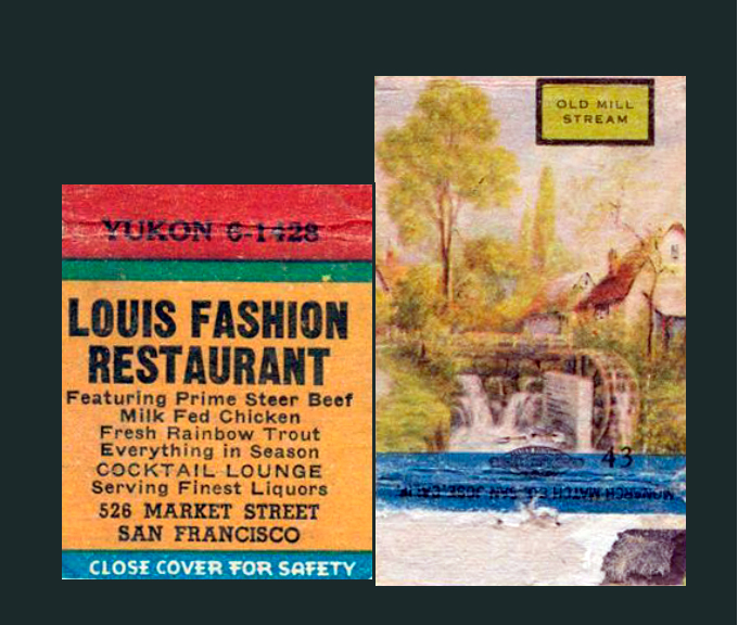 Louis Fashion Restaurant Matchbook