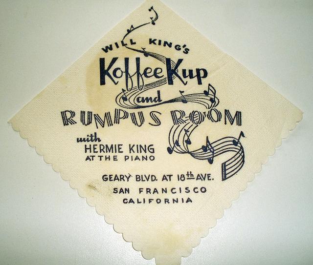 King's Koffee Kup Napkin
