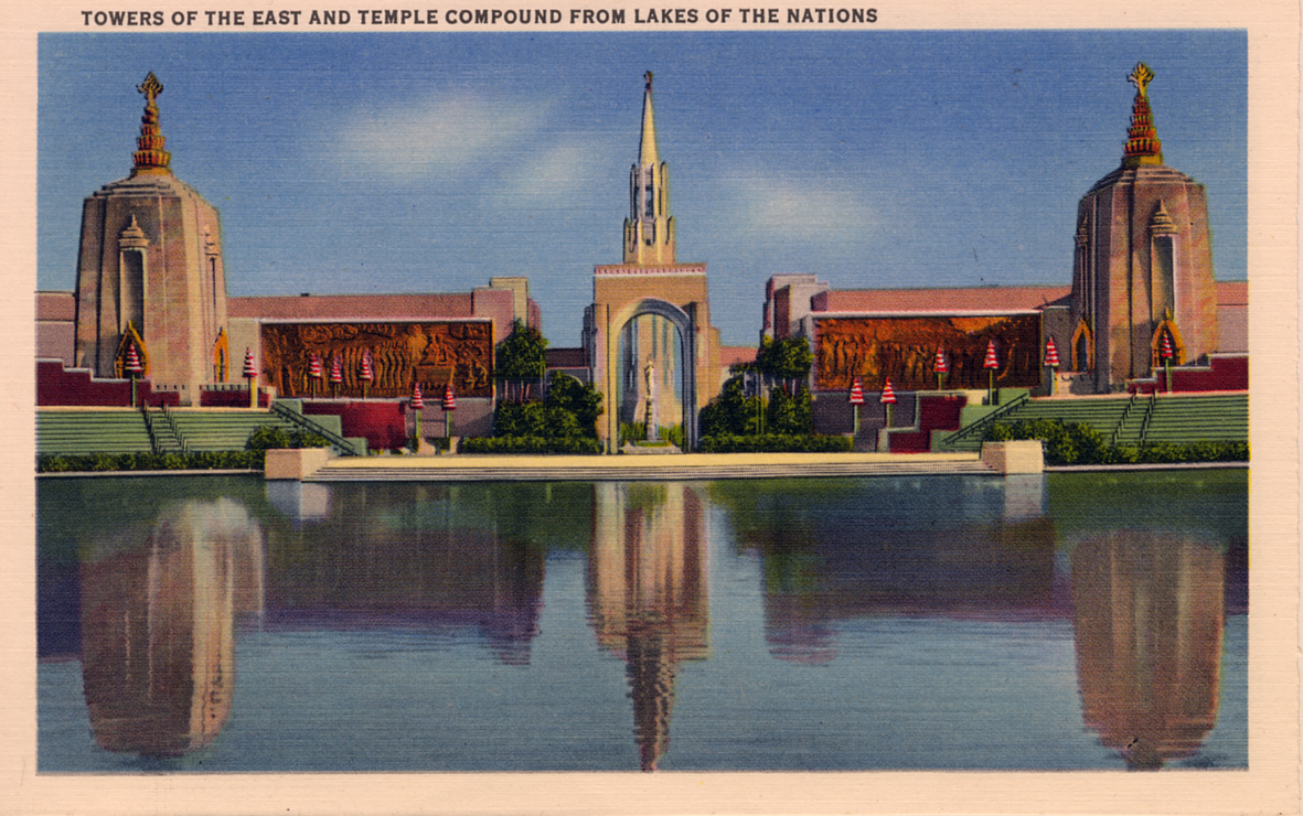 Towers Of The East And Temple Compound From Lakes of the Nations