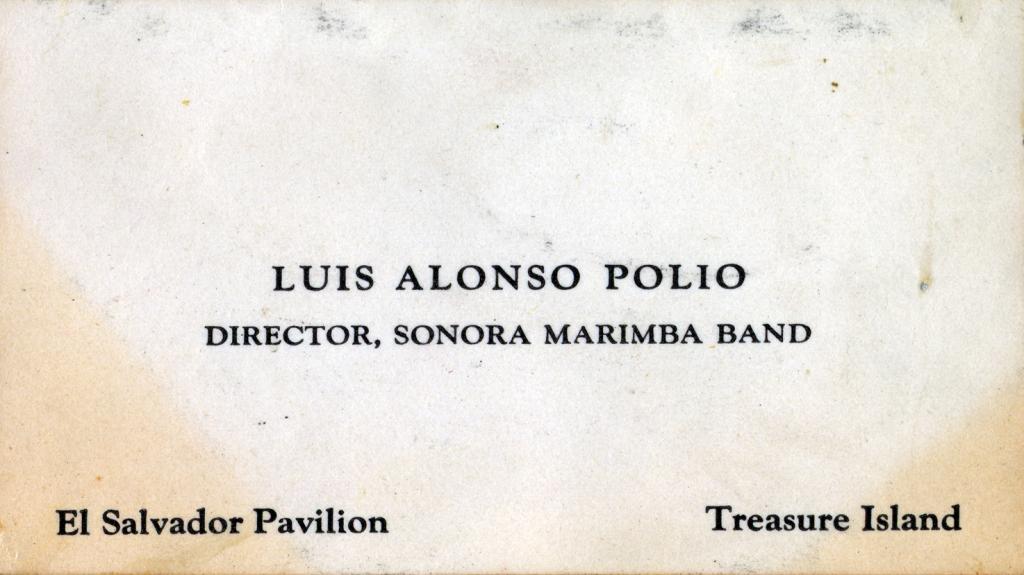 Marimba Director_El Salvador Pavilion